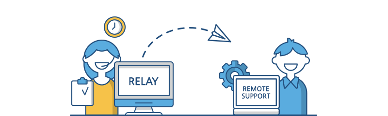 RELAY → REMOTE SUPPORT